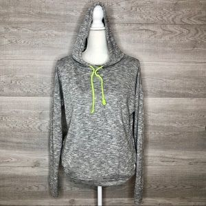 Grey & Green Hoodie by Forever21 Size Medium
